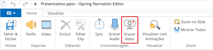 editor de vídeo do iSpring Suite
